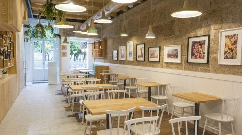 Una imagen general del restaurante Amodo en Vigo