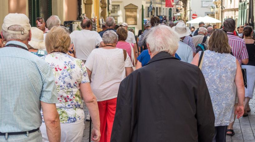 Un grupo de turistas durante uno de los viajes del Imserso