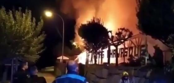Incendio termas A Chavasqueira
