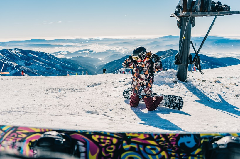 Holiduu esquiando